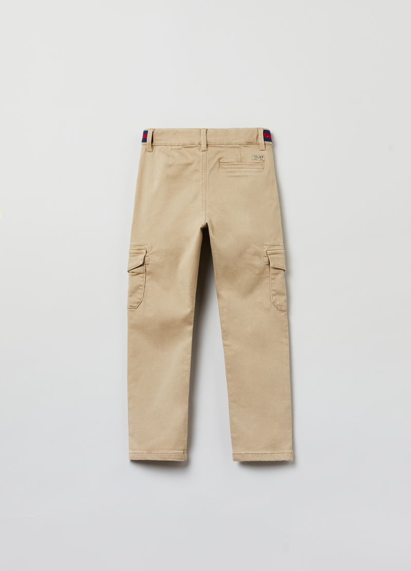 Pantaloni cargo in twill image number null
