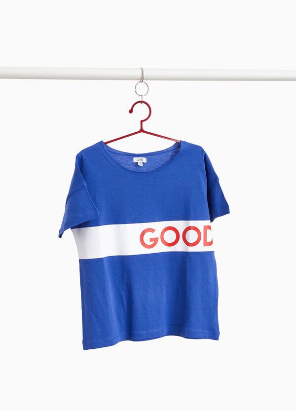 100% cotton T-shirt with lettering band