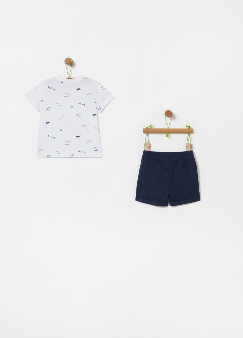 Patterned T-shirt and shorts jogging set image number null