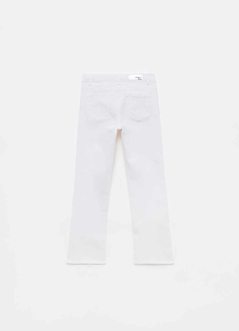 Fringed trousers with five pockets image number null