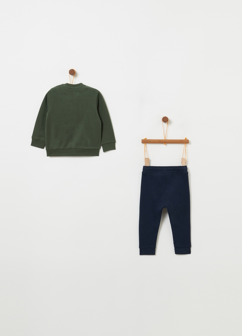 Jogging set with top and trousers with drawstring image number null