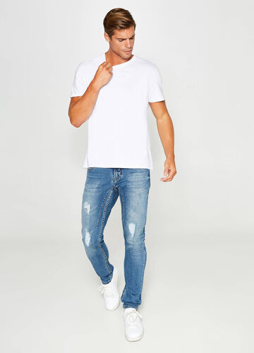 Jeans skinny fit stretch used strappati