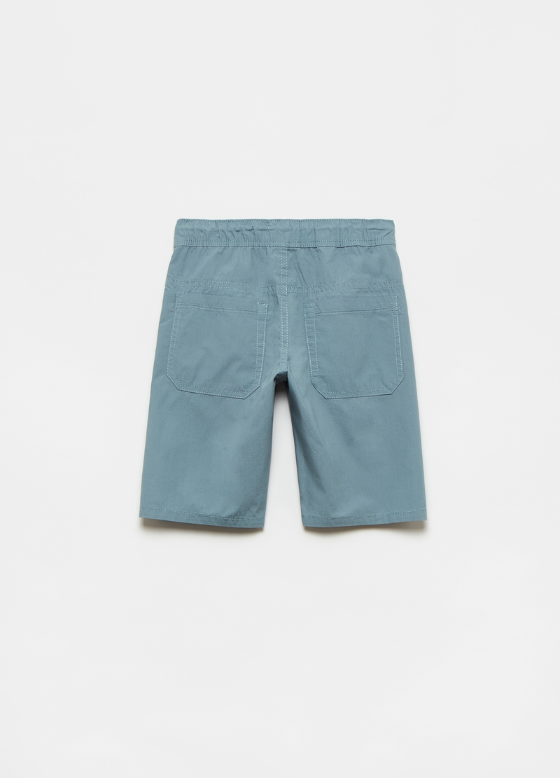 Poplin shorts with drawstring image number null