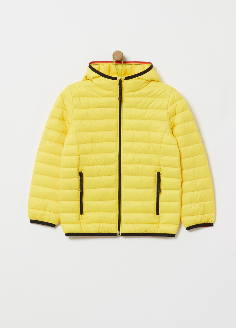 Ultra light quilted jacket with pockets image number null