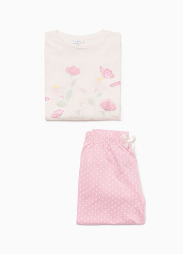 100% cotton pyjamas with floral polka dots