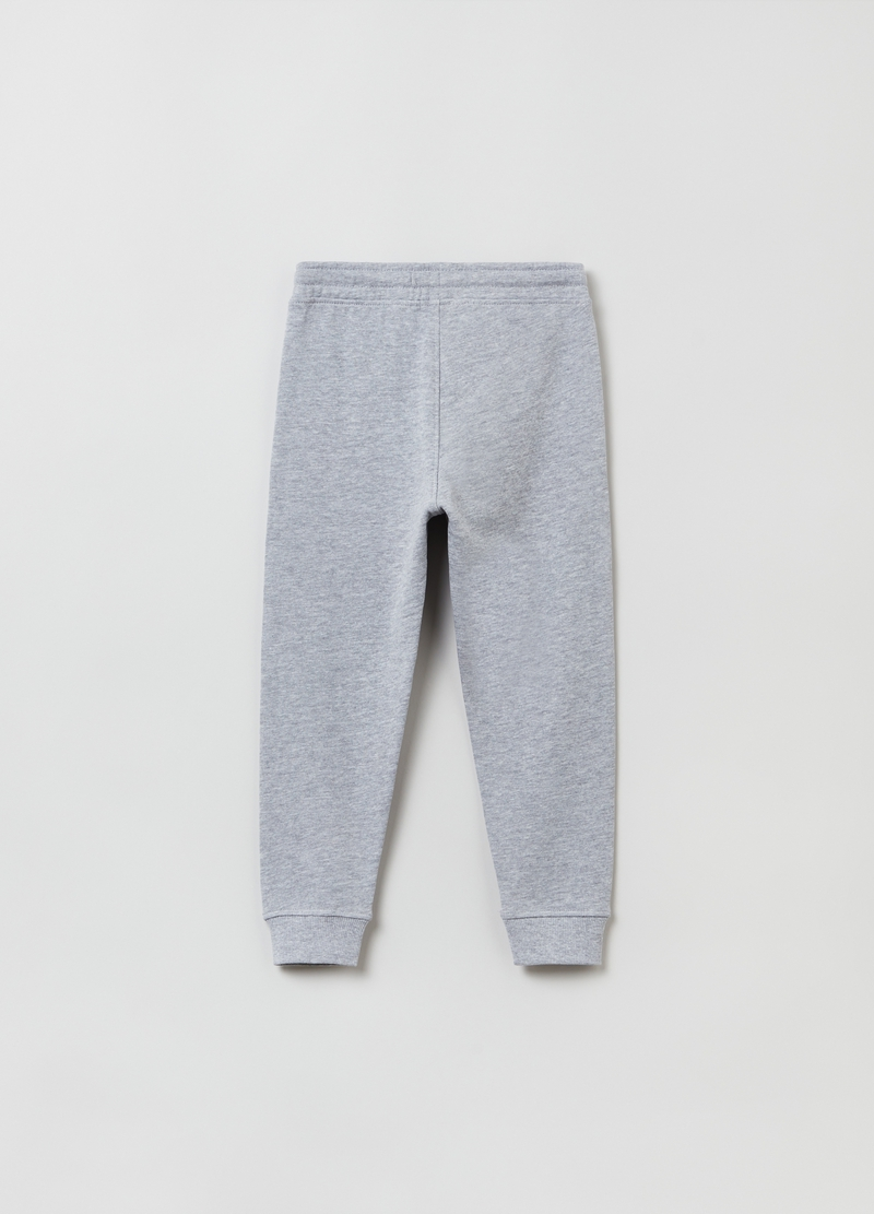 Joggers in felpa mélange con patch image number null