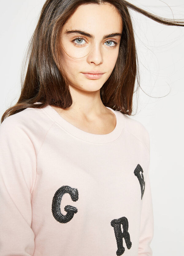 Teen solid colour sweatshirt with embroidery | OVS