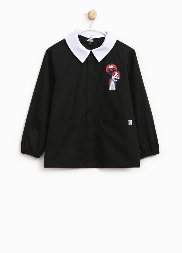 Cotton blend smock with Star Wars motif patches