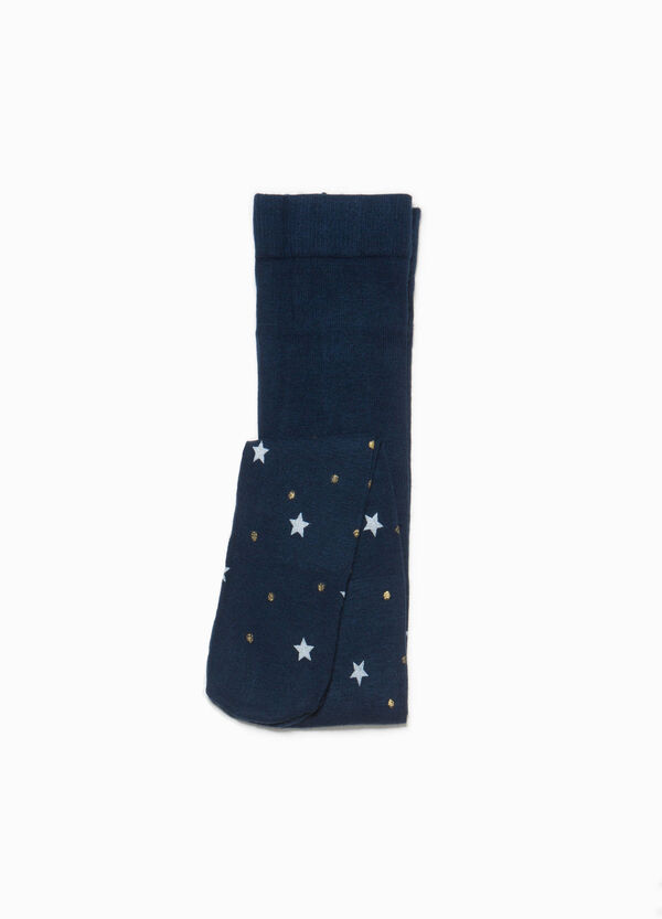 Polka dot and star glitter patterned tights   OVS