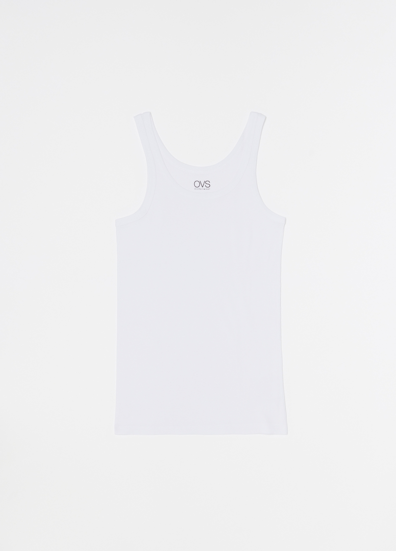 Two-pack 100% organic cotton racerback vests image number null
