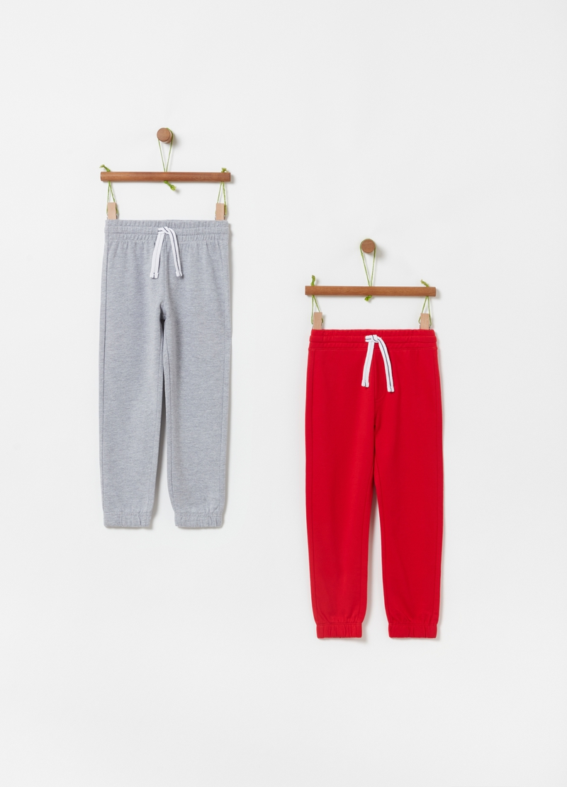 Two-pack of French terry joggers image number null