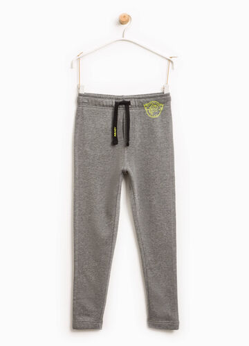 Joggers with print and drawstring