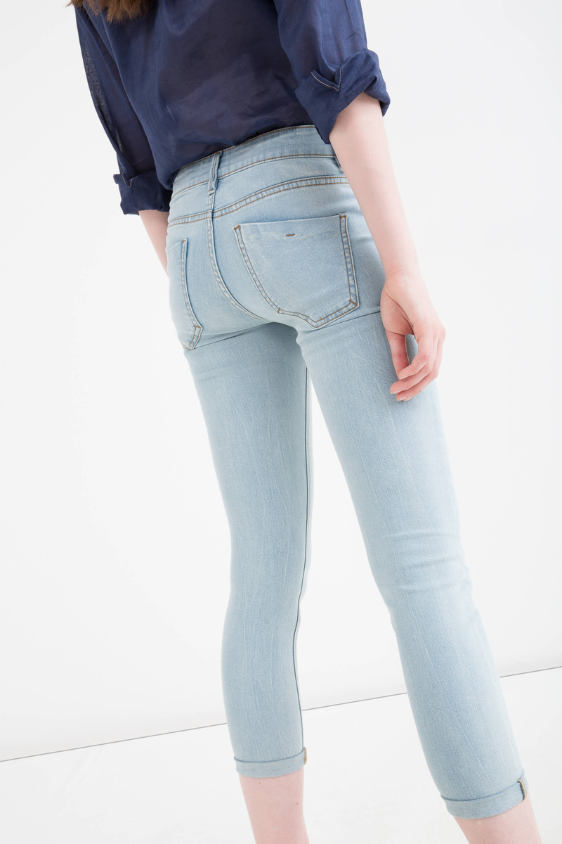 Jeans skinny fit stretch strappi image number null