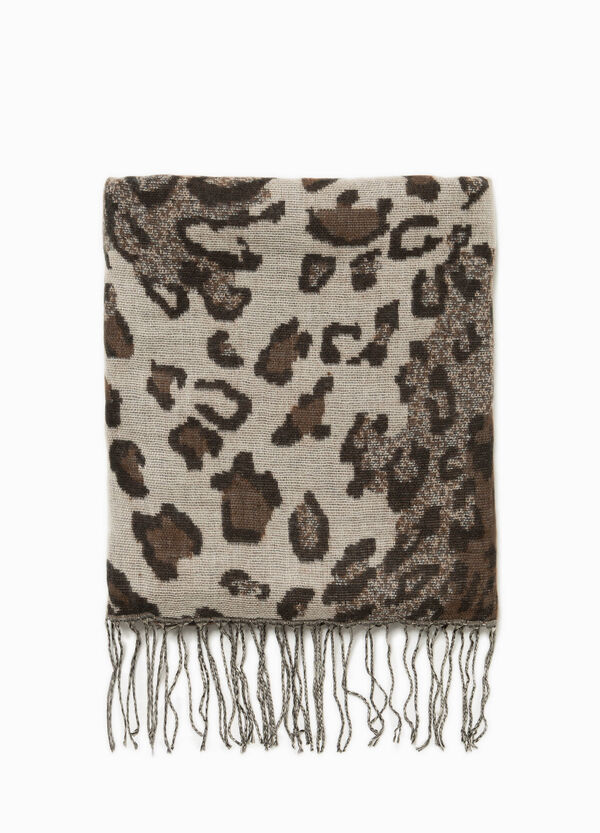 Animal pashmina with fringe | OVS