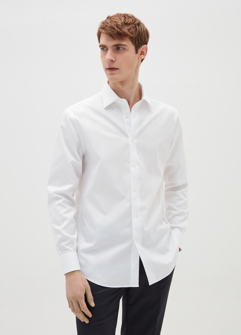 Camicia regular fit in oxford image number null