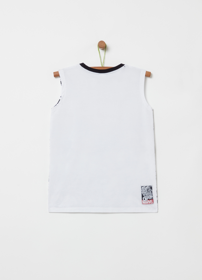 Tank top with all-over Marvel print image number null