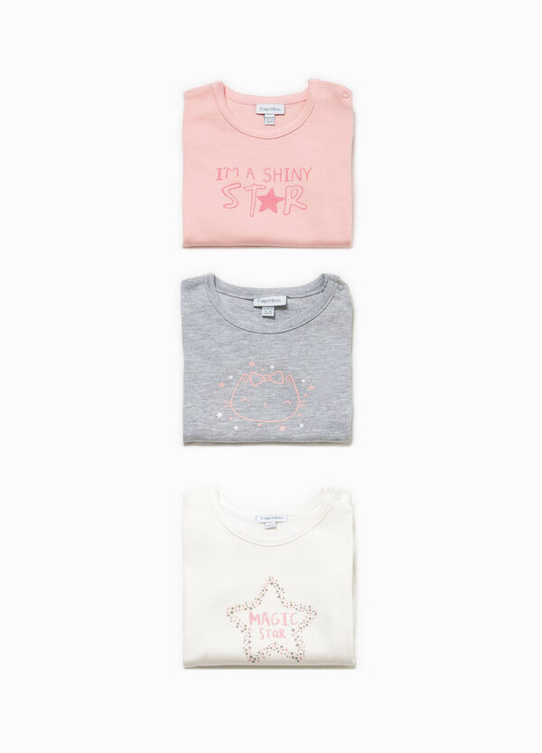 Three-pack bodysuits in 100% cotton with print | OVS