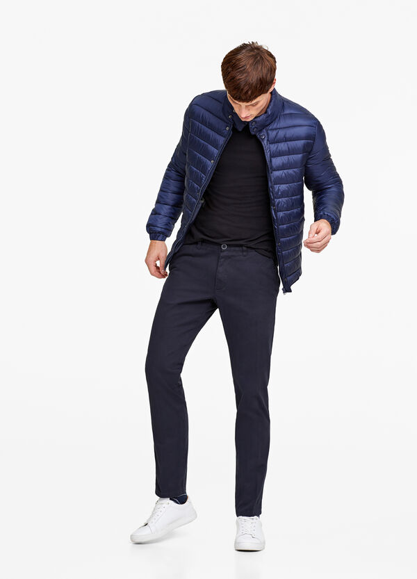 Quilted jacket with high collar