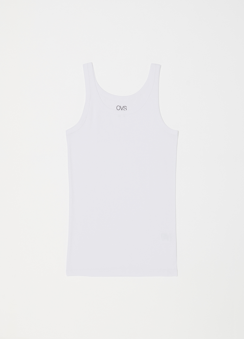 100% cotton racerback vest with ribbing image number null