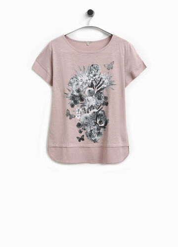 Smart Basic T-shirt with floral print