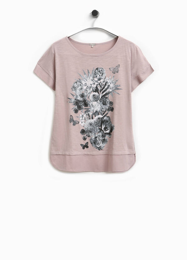 Smart Basic T-shirt with floral print | OVS