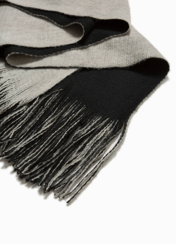 Two-tone scarf with long fringing | OVS