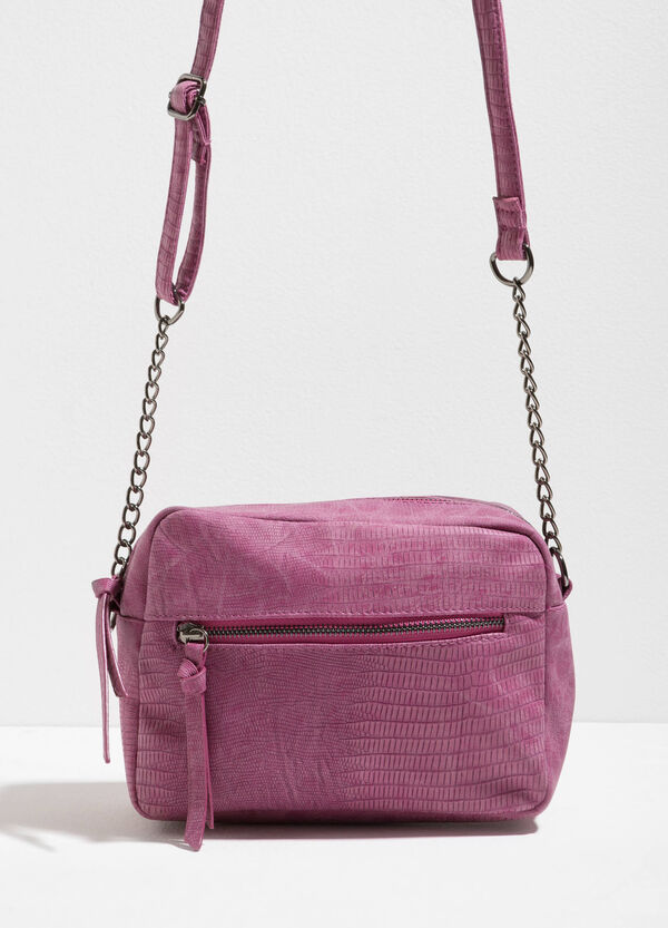 Shoulder bag with reptile skin texture | OVS