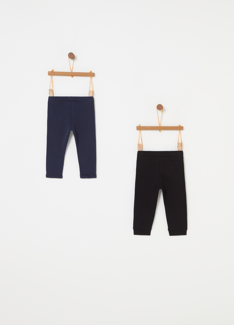 Set due pantaloni French Terry stampa image number null
