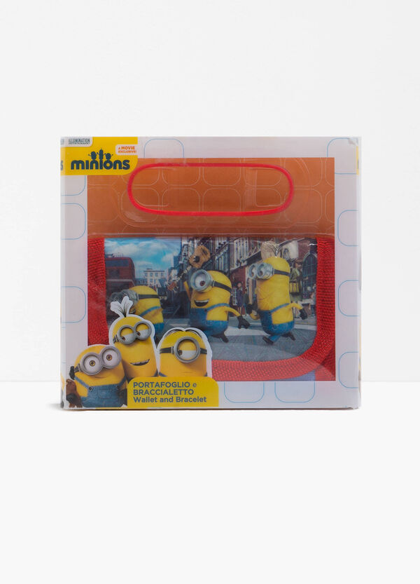 Minions wallet and bracelet set