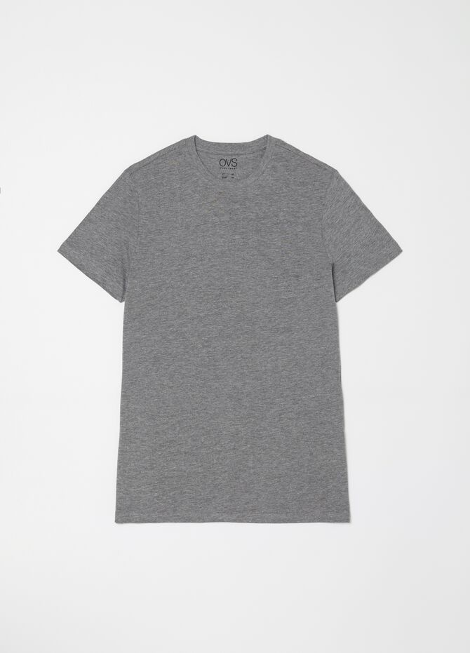 Mélange undershirt with thin ribbing