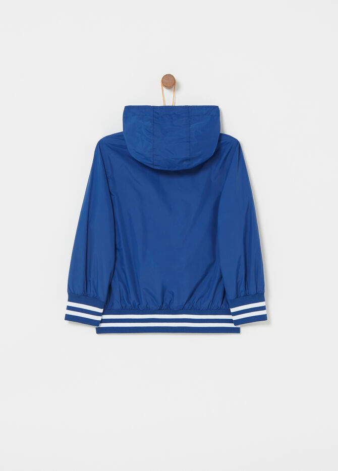 Windproof jacket with lining and ribbing