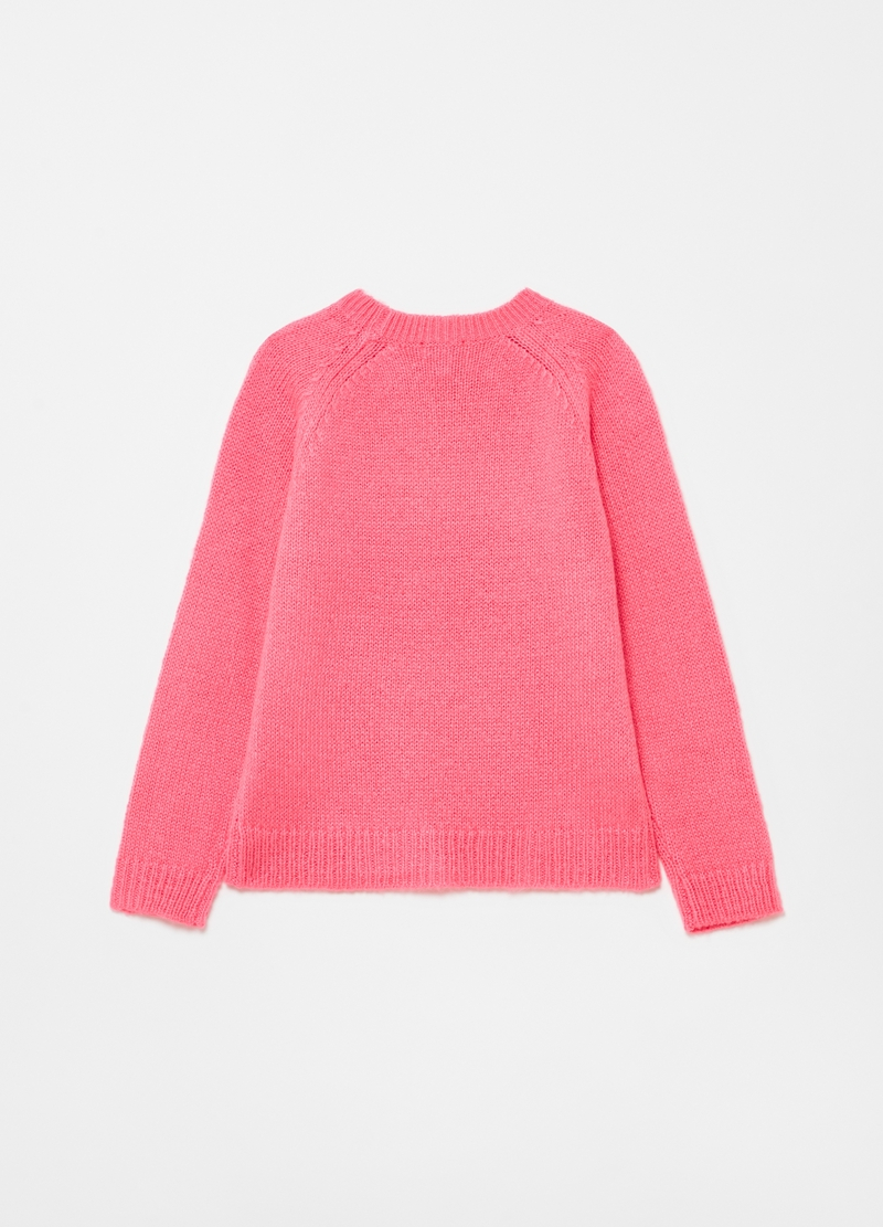 Pullover tricot con ricamo lettering image number null