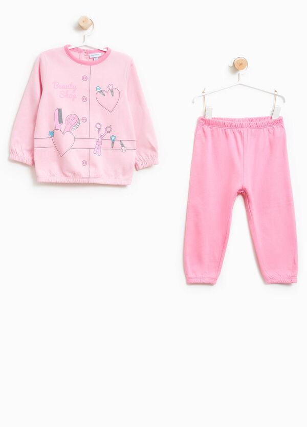 Organic cotton pyjamas with print