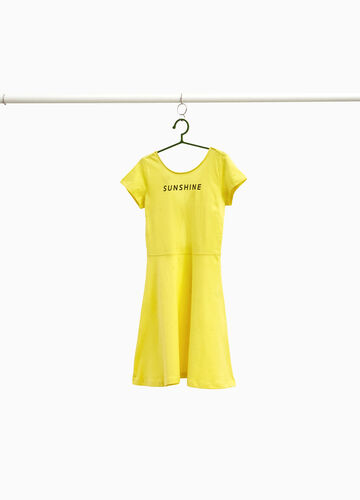 100% cotton dress with lettering print