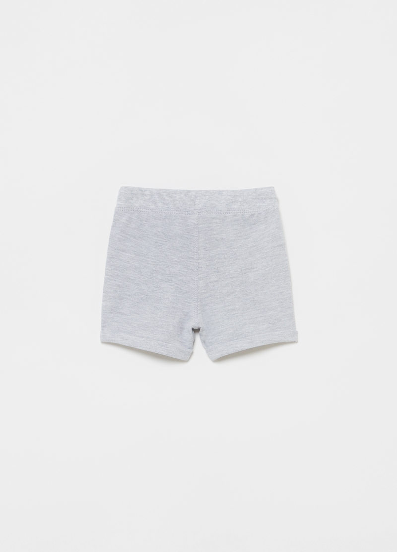 Shorts in viscose and cotton piquet image number null
