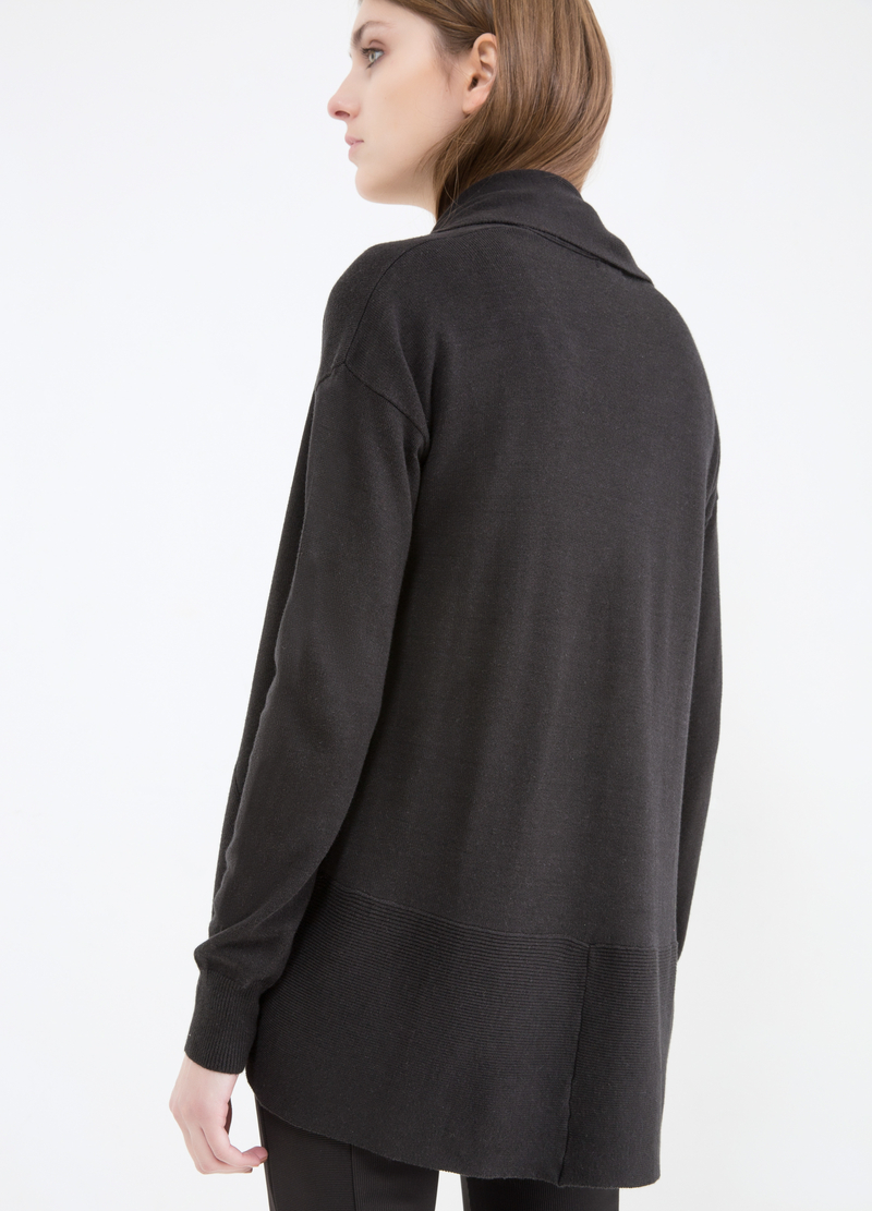 Viscose and cotton blend cardigan image number null
