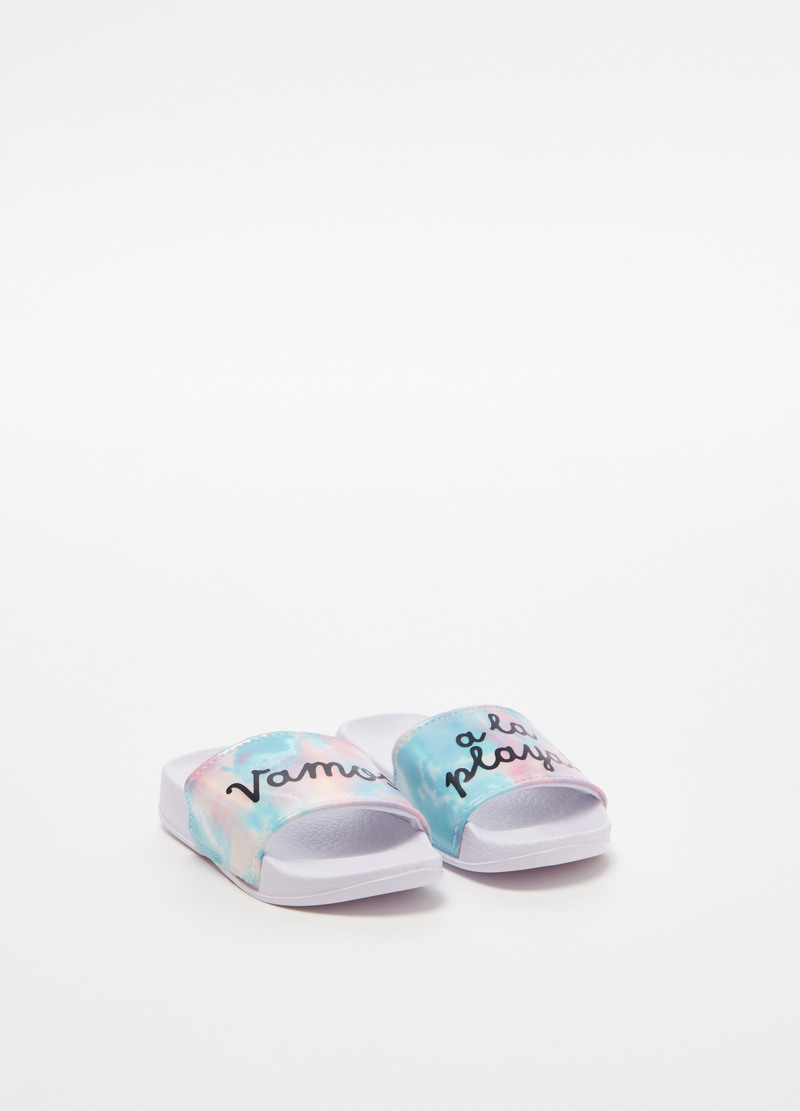 Slippers with lettering image number null