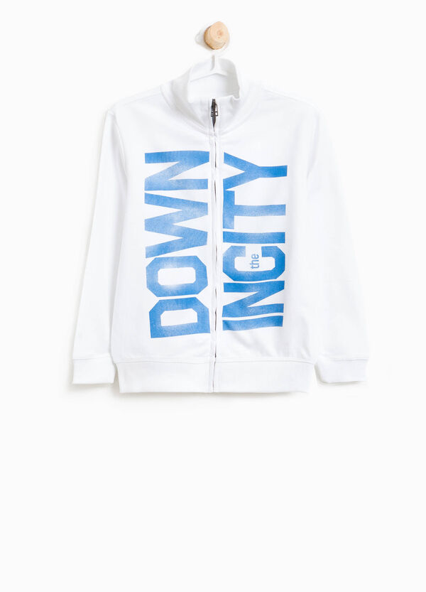 Sweatshirt in cotton with printed lettering | OVS