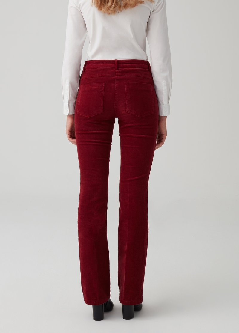 Pantalone flare in velluto con tasche image number null