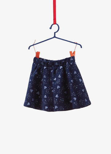 100% cotton skirt with glitter heart pattern