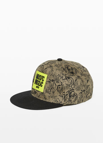 Cotton mélange baseball cap with tigers