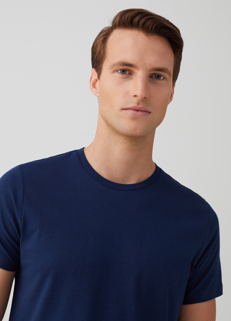 Two-pack solid colour crew neck T-shirts image number null