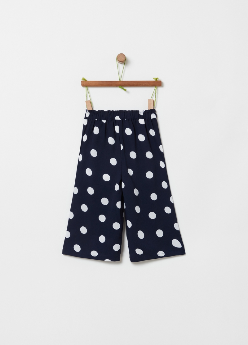 Pantaloni crop stampa all-over image number null