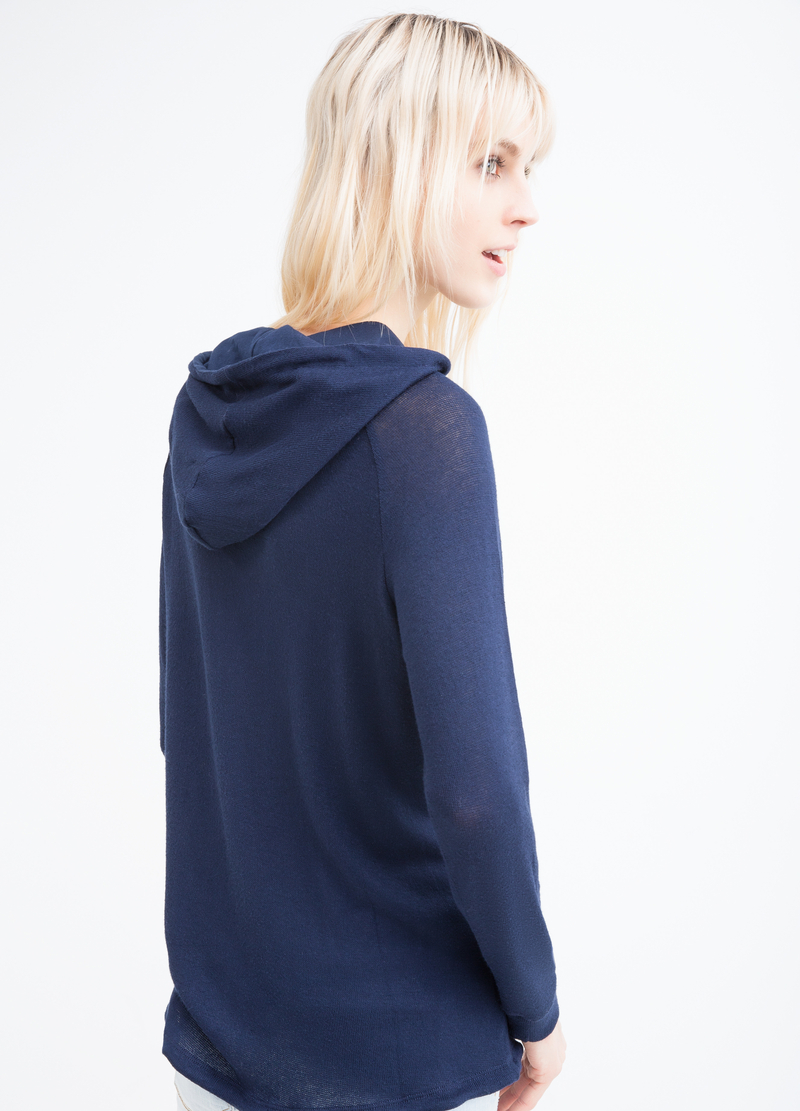 Viscose blend maxi hoodie image number null