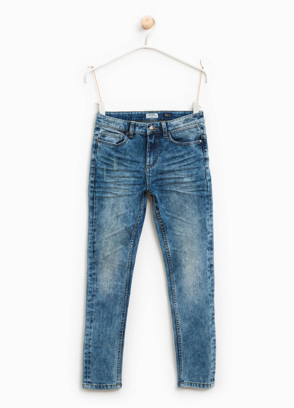 Mis-dyed effect skinny-fit jeans | OVS