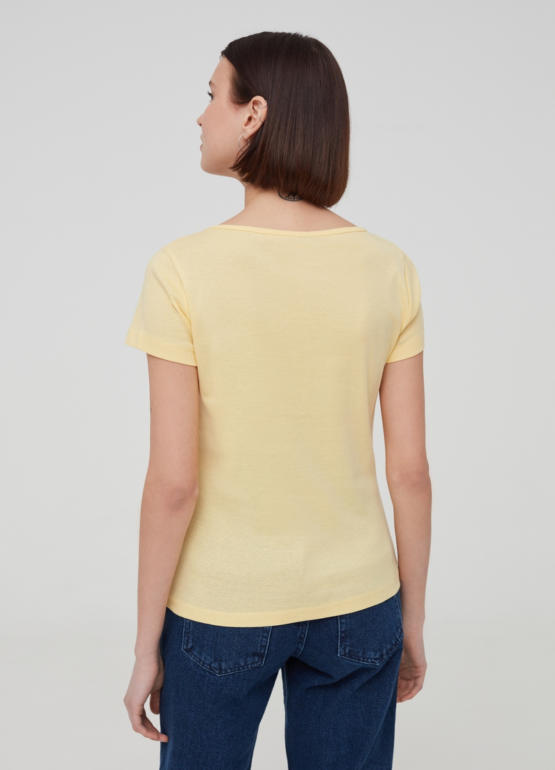 Solid colour T-shirt in 100% organic cotton image number null