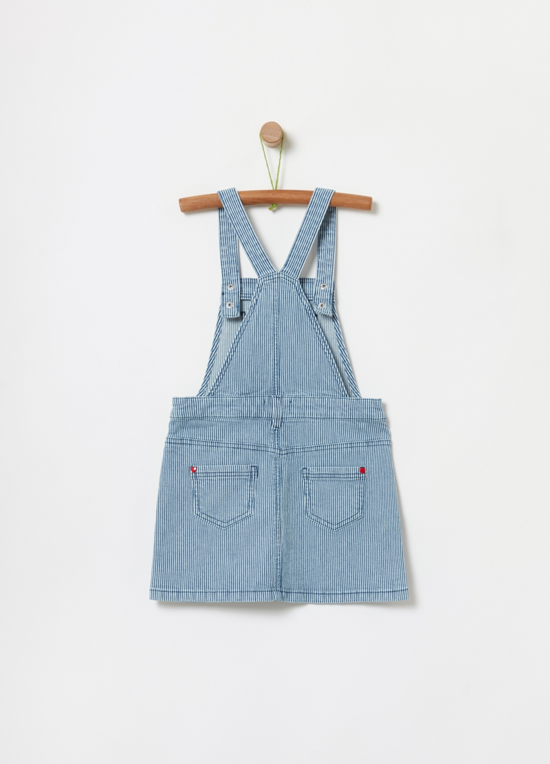 Dungarees with striped pockets image number null