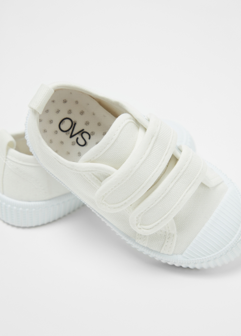 Cotton sneakers with stretch Velcro image number null