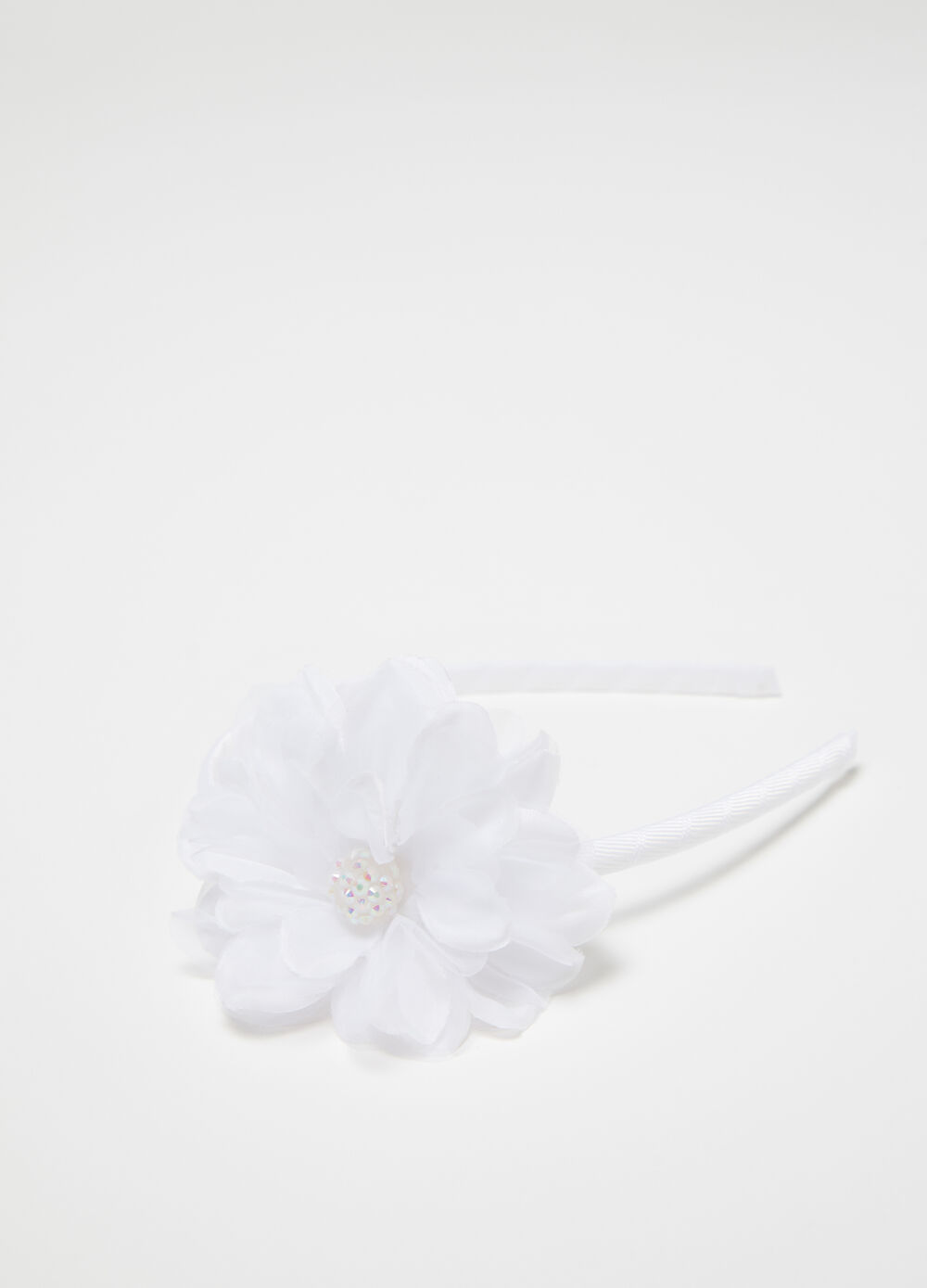 Hairband with flowers and diamantés