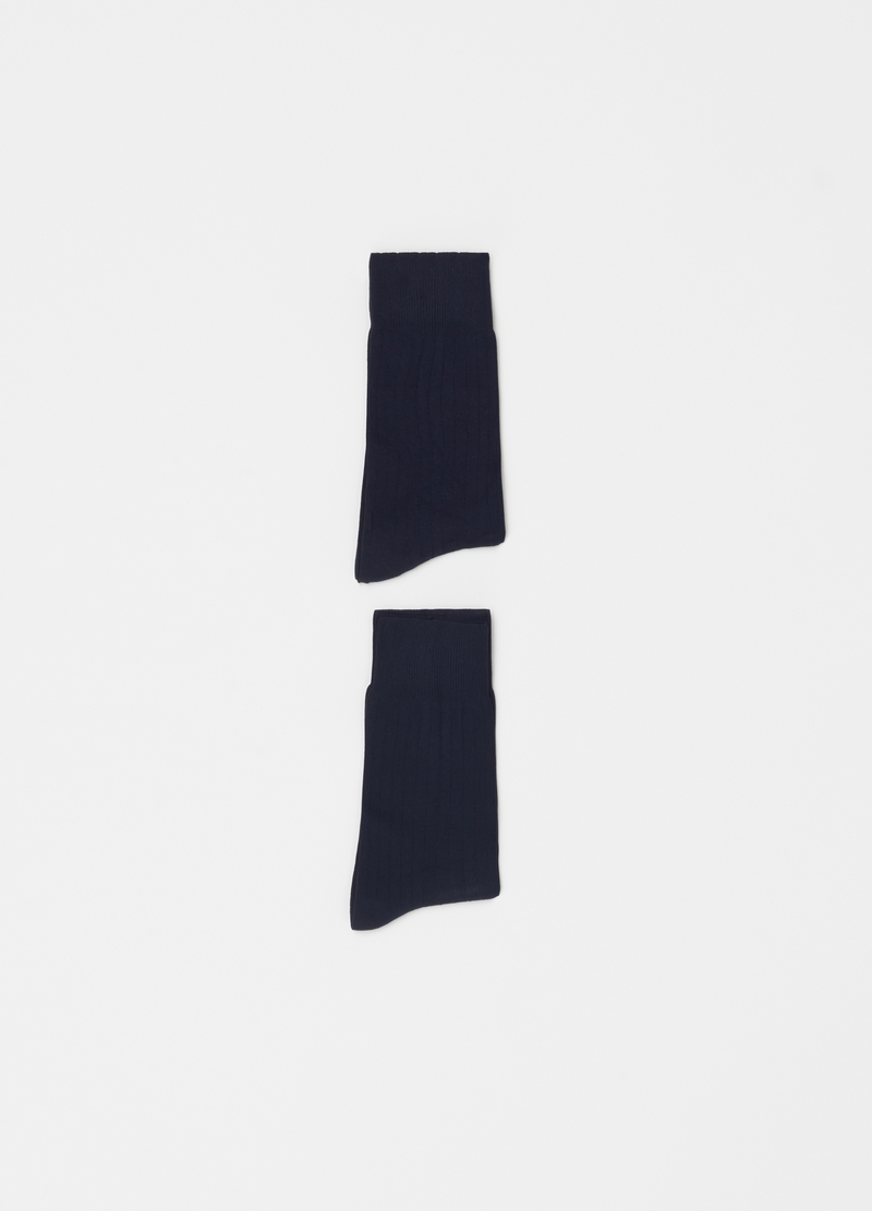 Two-pair pack short socks in ribbed microfibre image number null